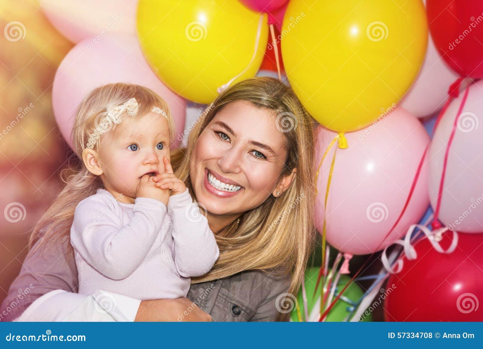 Verjaardagspartij van babymeisje