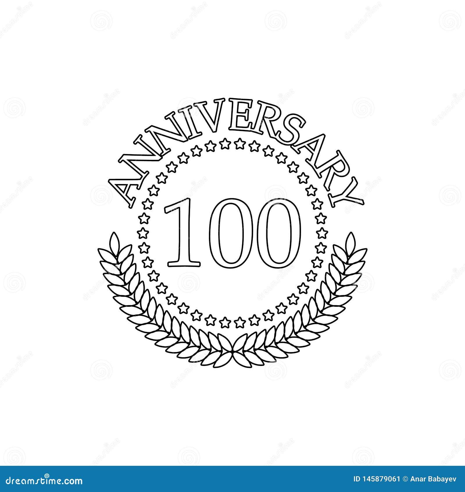 100 verjaardagsteken Element van verjaardagsillustratie Grafisch het ontwerppictogram van de premiekwaliteit Tekens en symbolenin