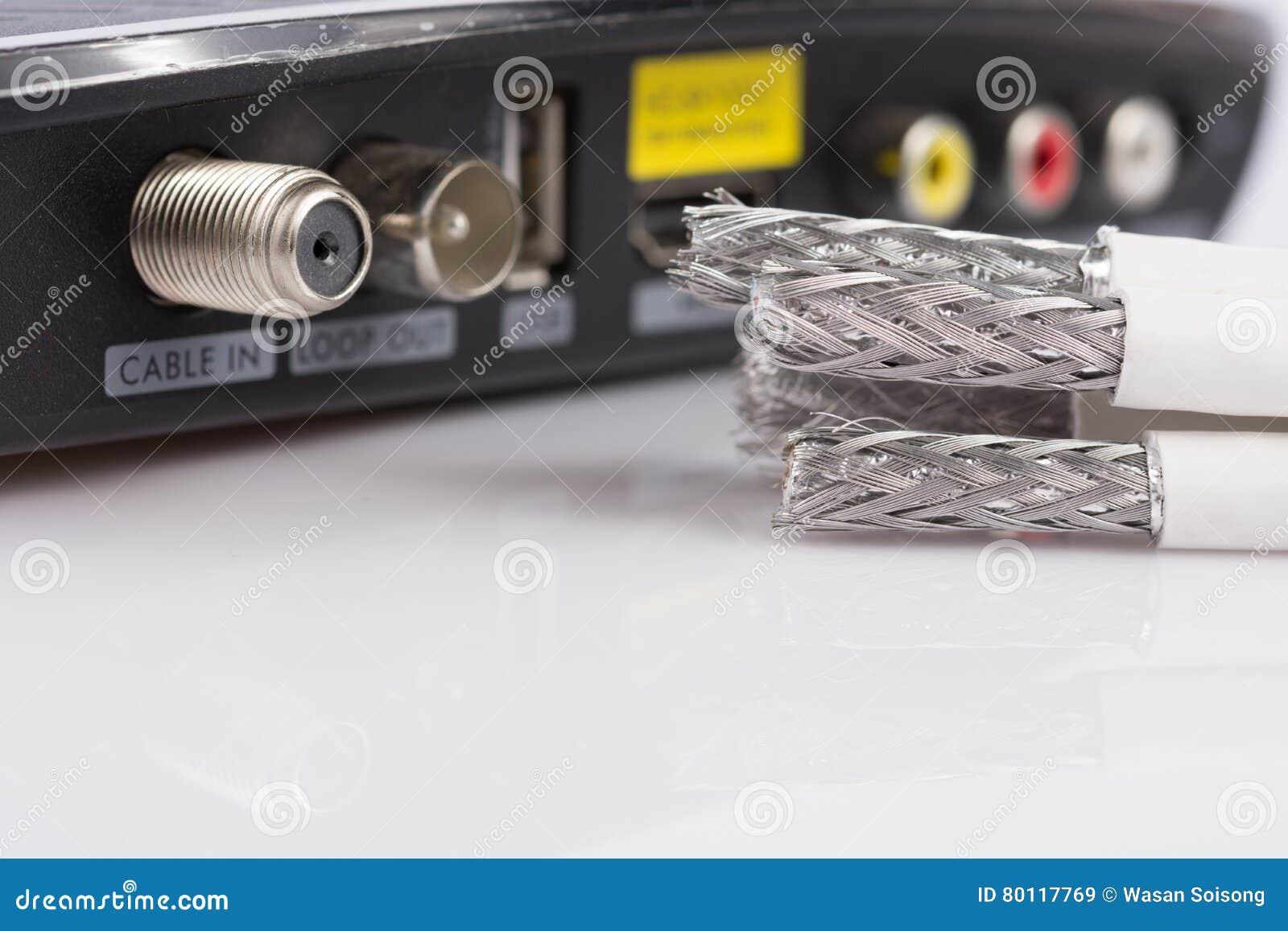 Verkabeln Sie Für Digitales Fernsehen, Kabelfernsehen, Daten-Kabel ...