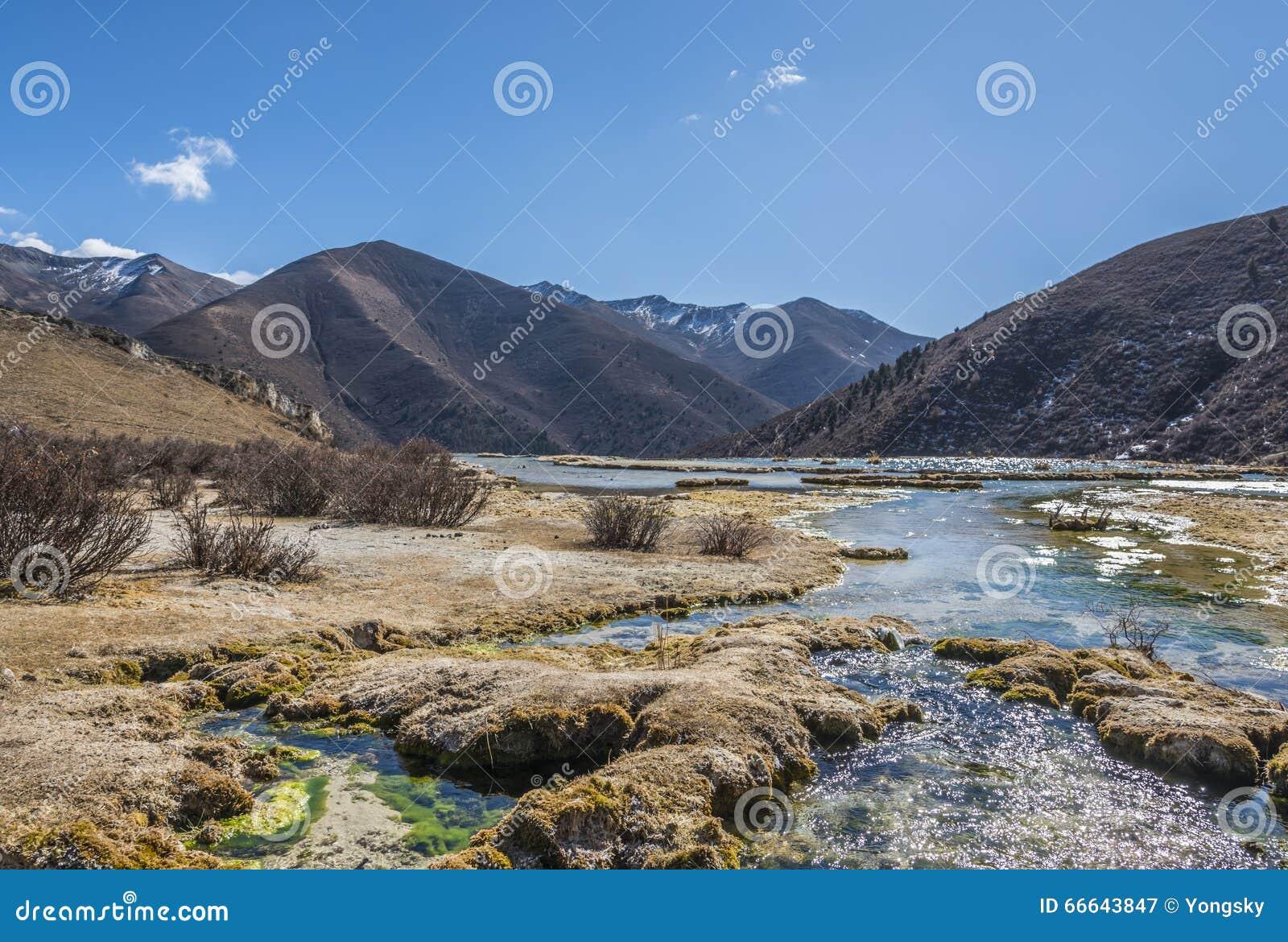 Verkalkter Teich Quanhua Sonnenbräune