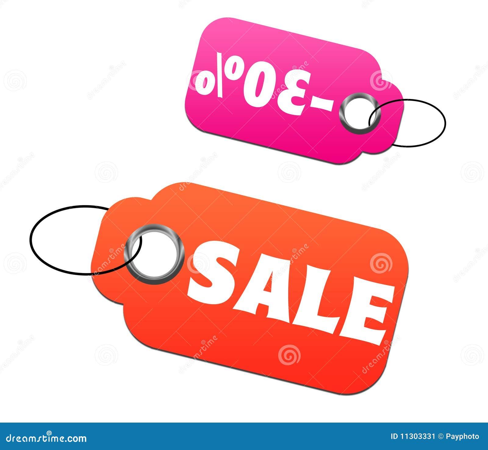 Verkaufs- und Rabattmarken