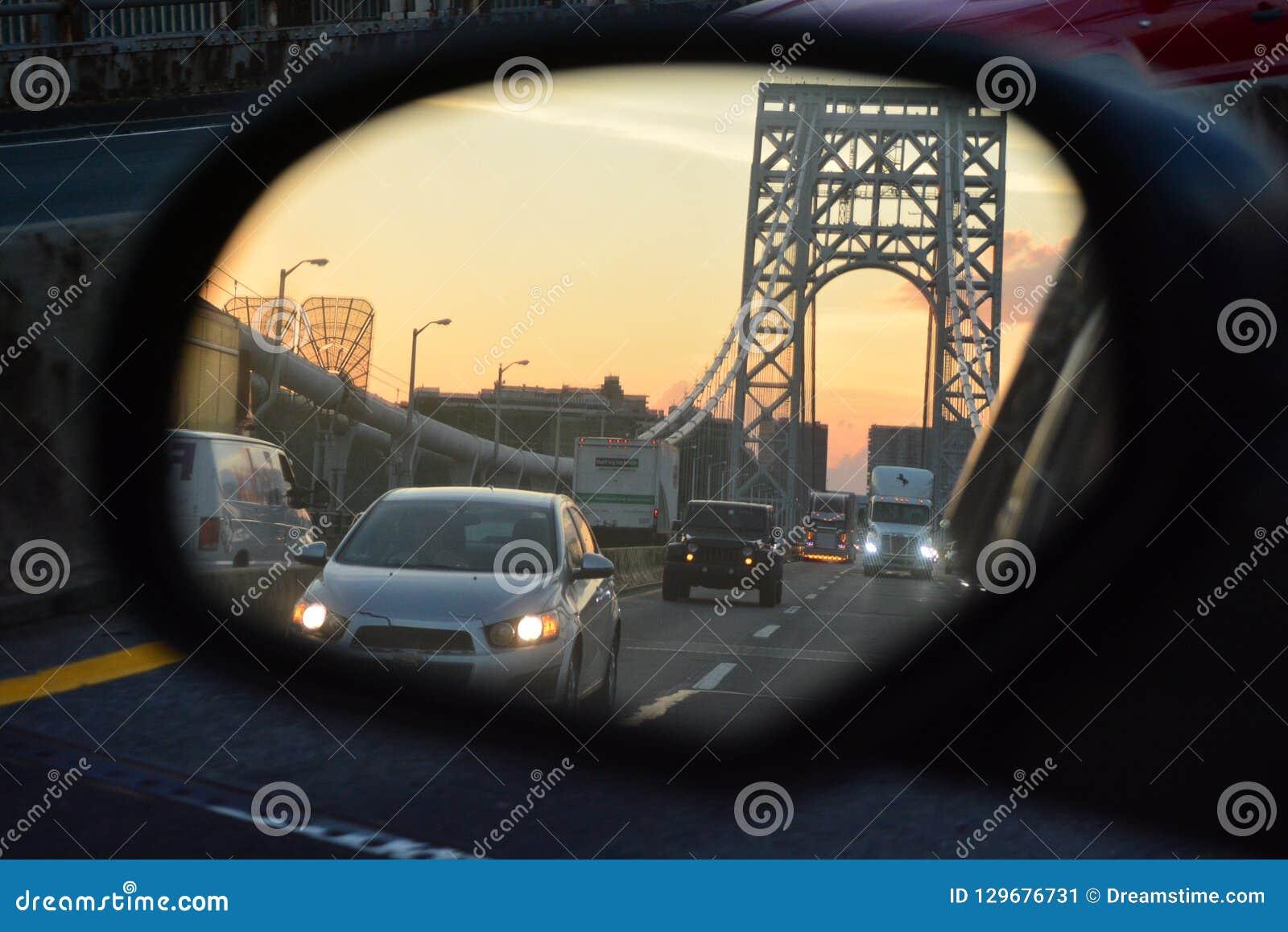 Verkeer op George Washington Bridge