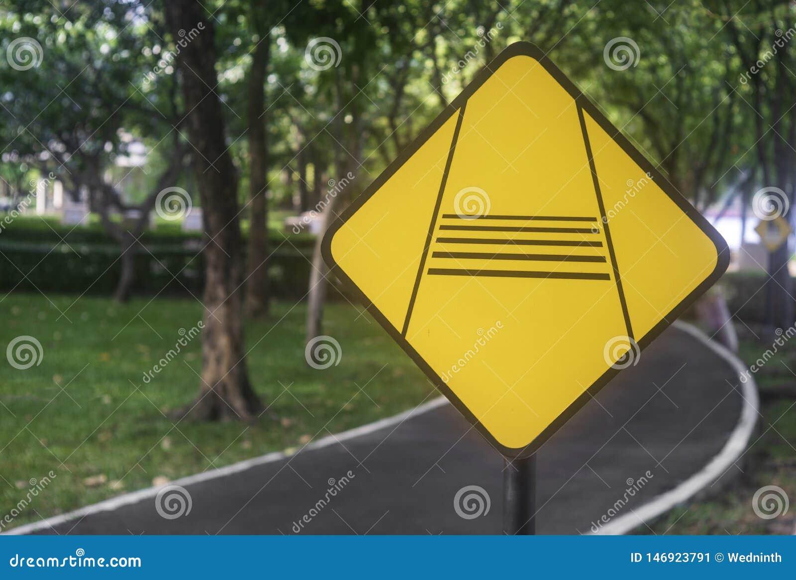 Verkeersteken in het park