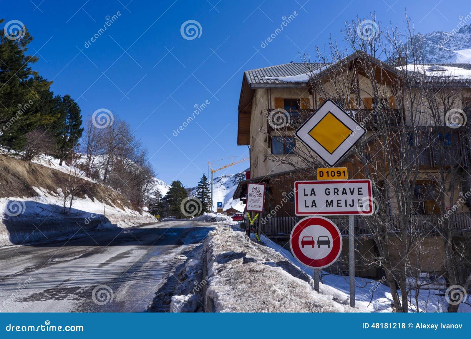 Verkeersteken in La-Graf