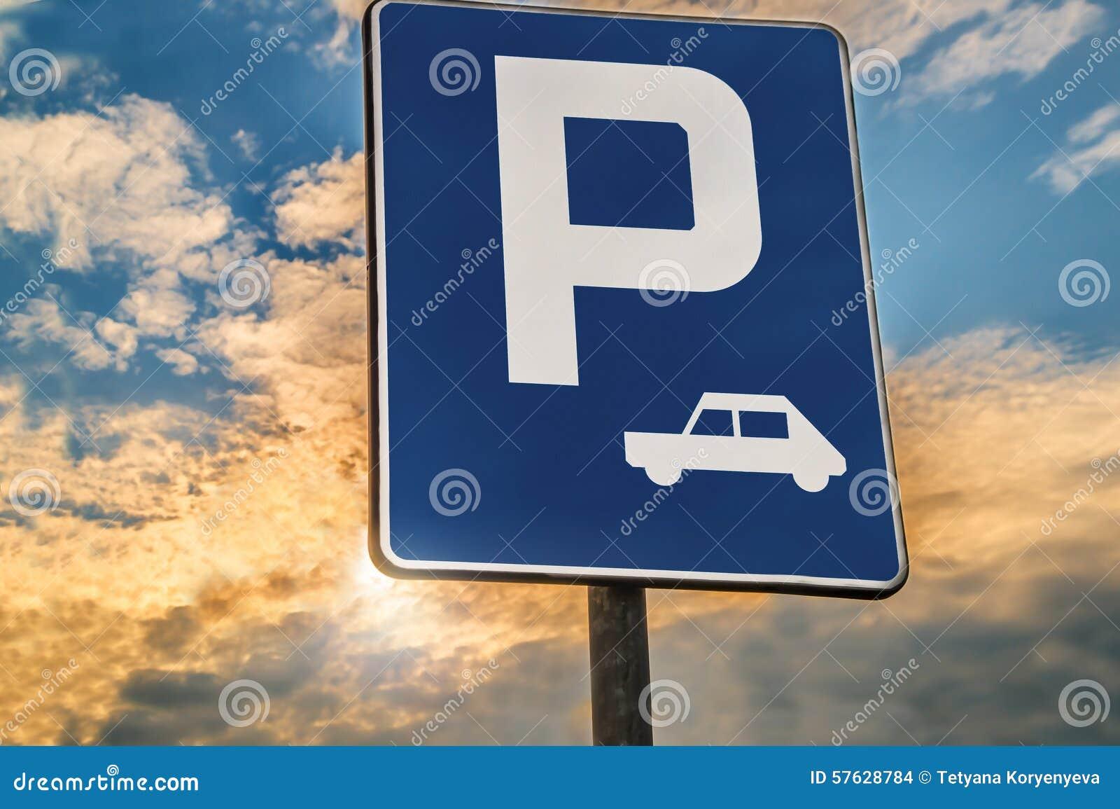 Verkeerstekenparkeerterrein of Rust einde
