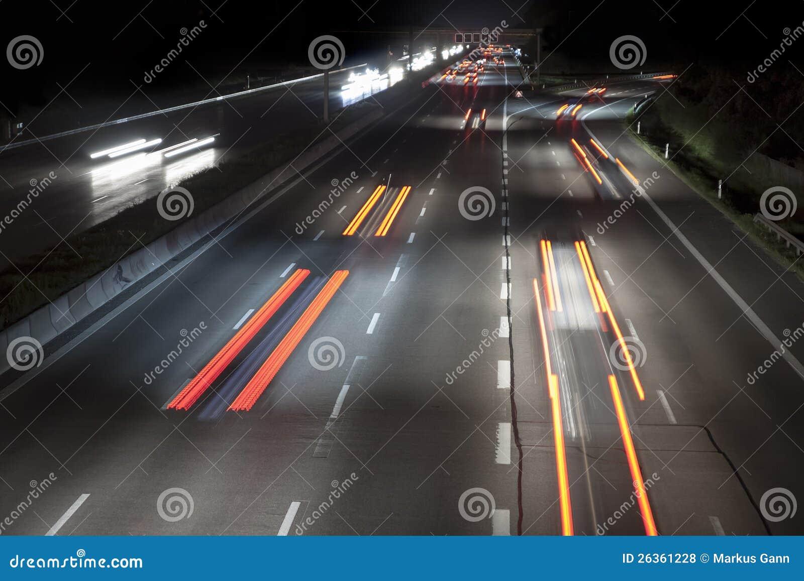 Verkehr bis zum Nacht