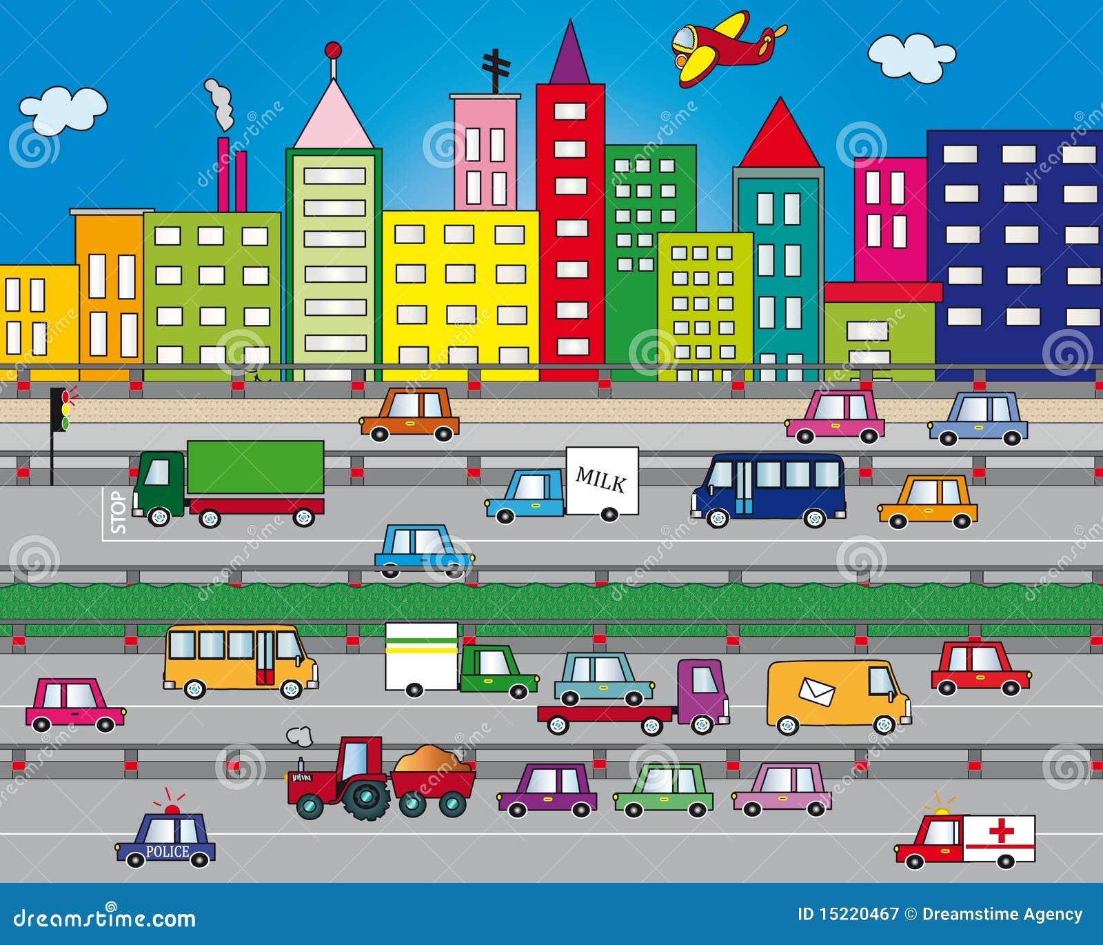 Verkehr in der Stadt
