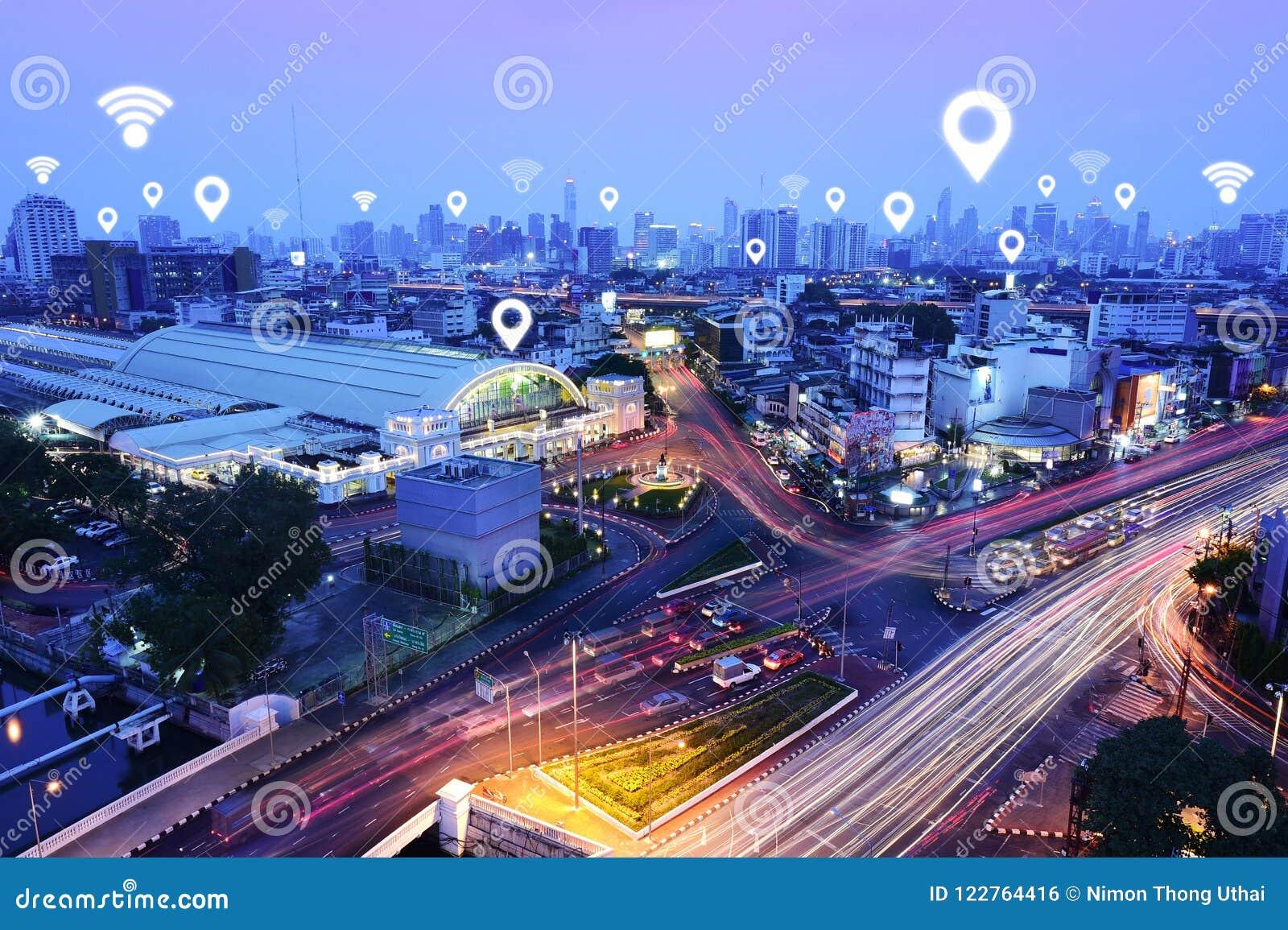 Verkehr, Fahrzeuge, drahtloses Kommunikationsnetz