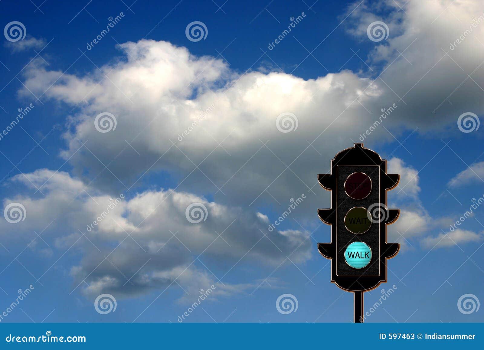 Verkehr-Leuchte Konzept