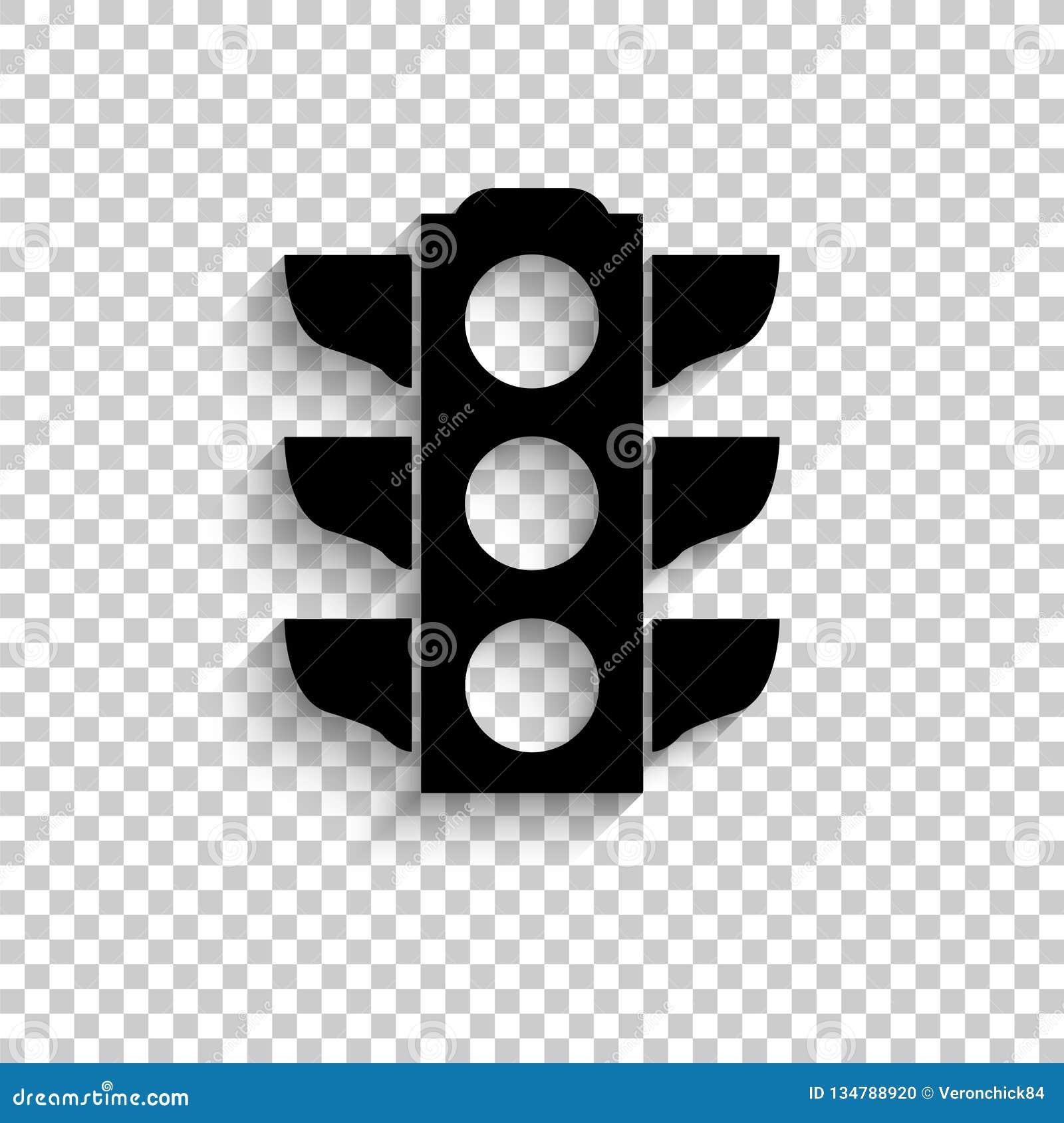 Verkehrslichtsignal - schwarze Vektorikone