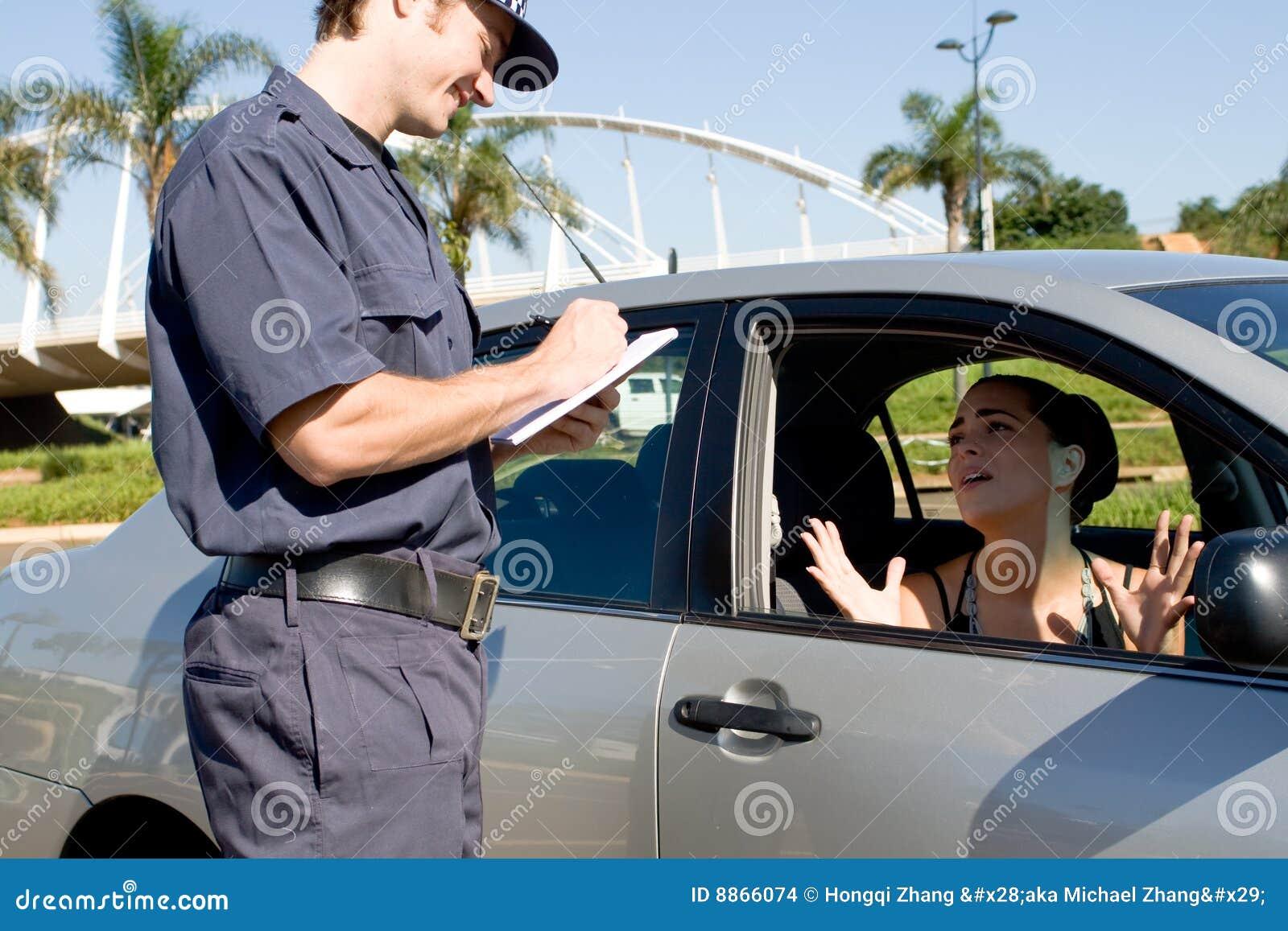 Verkehrspolizei stockfoto. Bild von erwachsener, automobil - 8866074