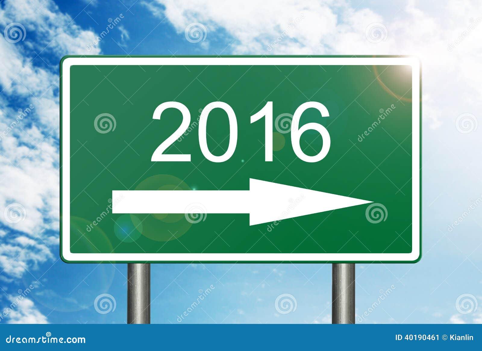 In Verkehrsschild 2016