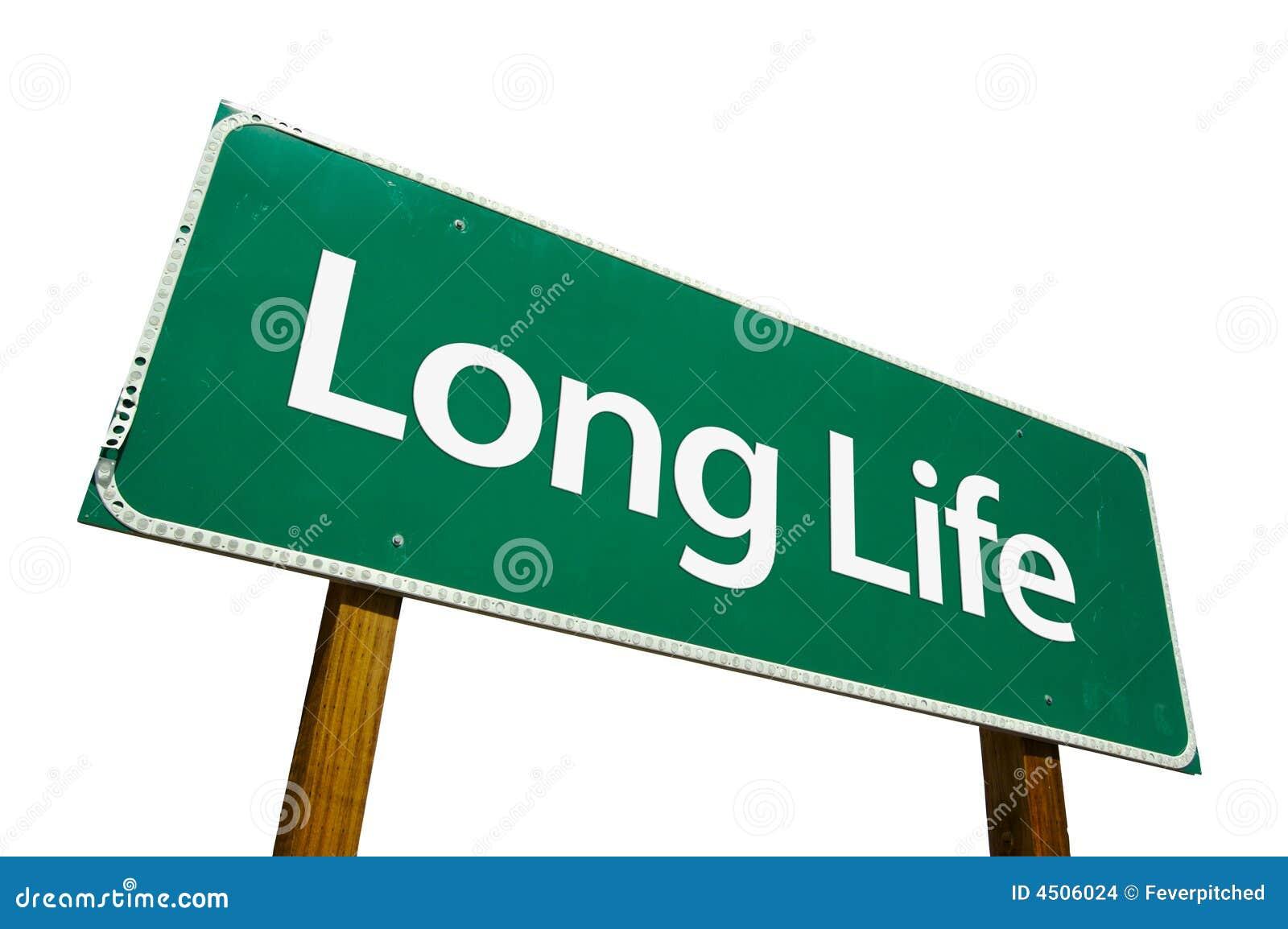 Verkehrsschild der langen Lebensdauer getrennt auf Weiß.
