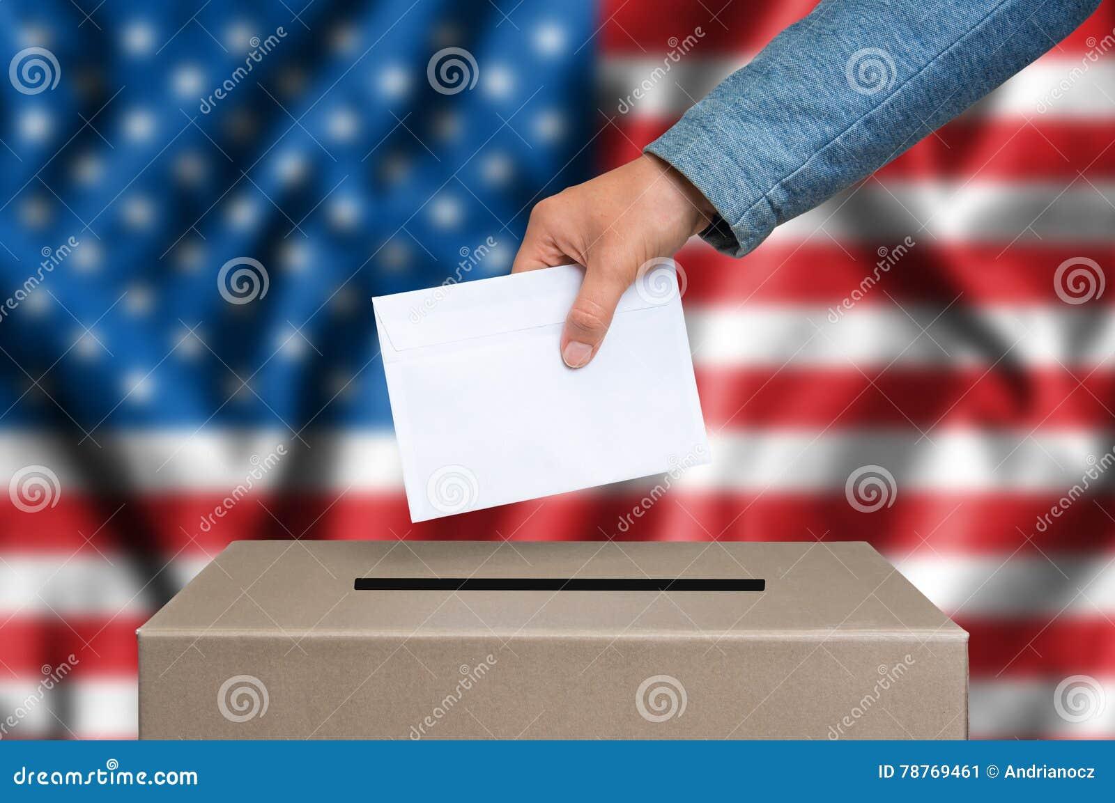 Verkiezing in Verenigde Staten van Amerika die - bij de stembus de stemmen