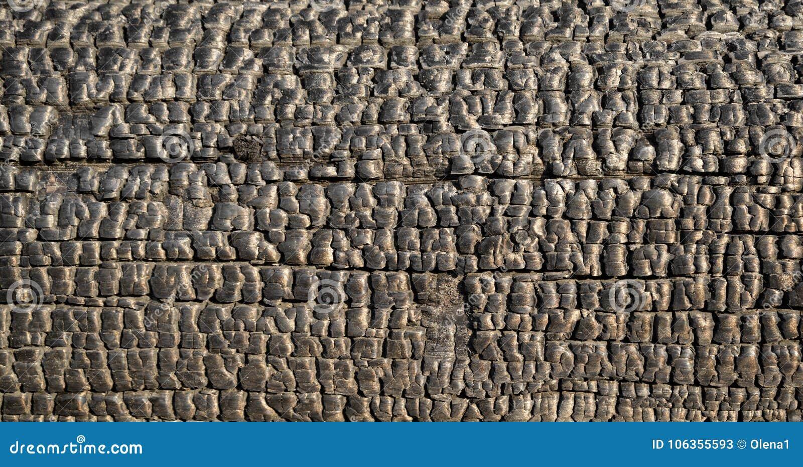 Verkoolde houten straal
