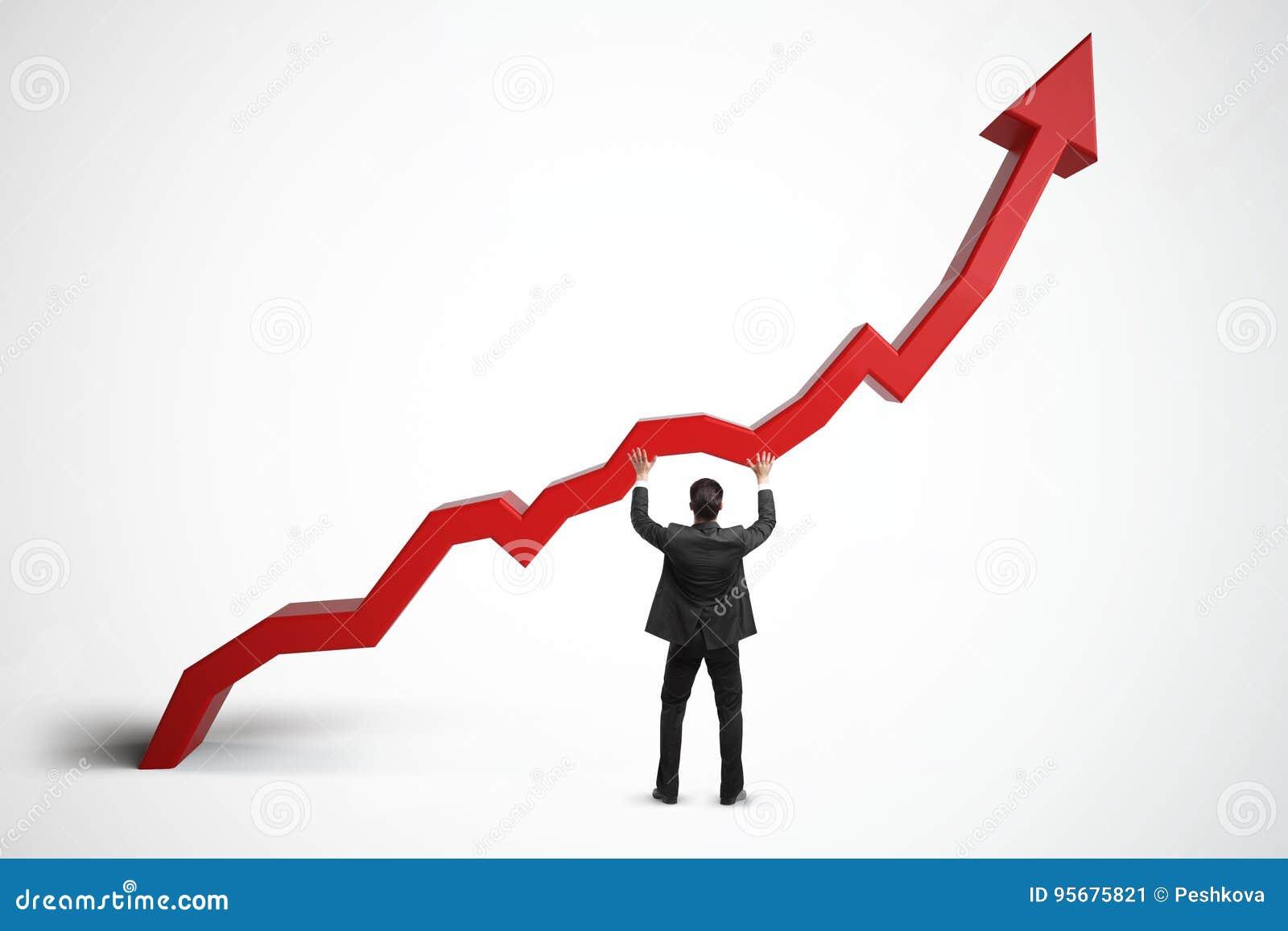 Verkoop, de groei, inkomens en financiënconcept