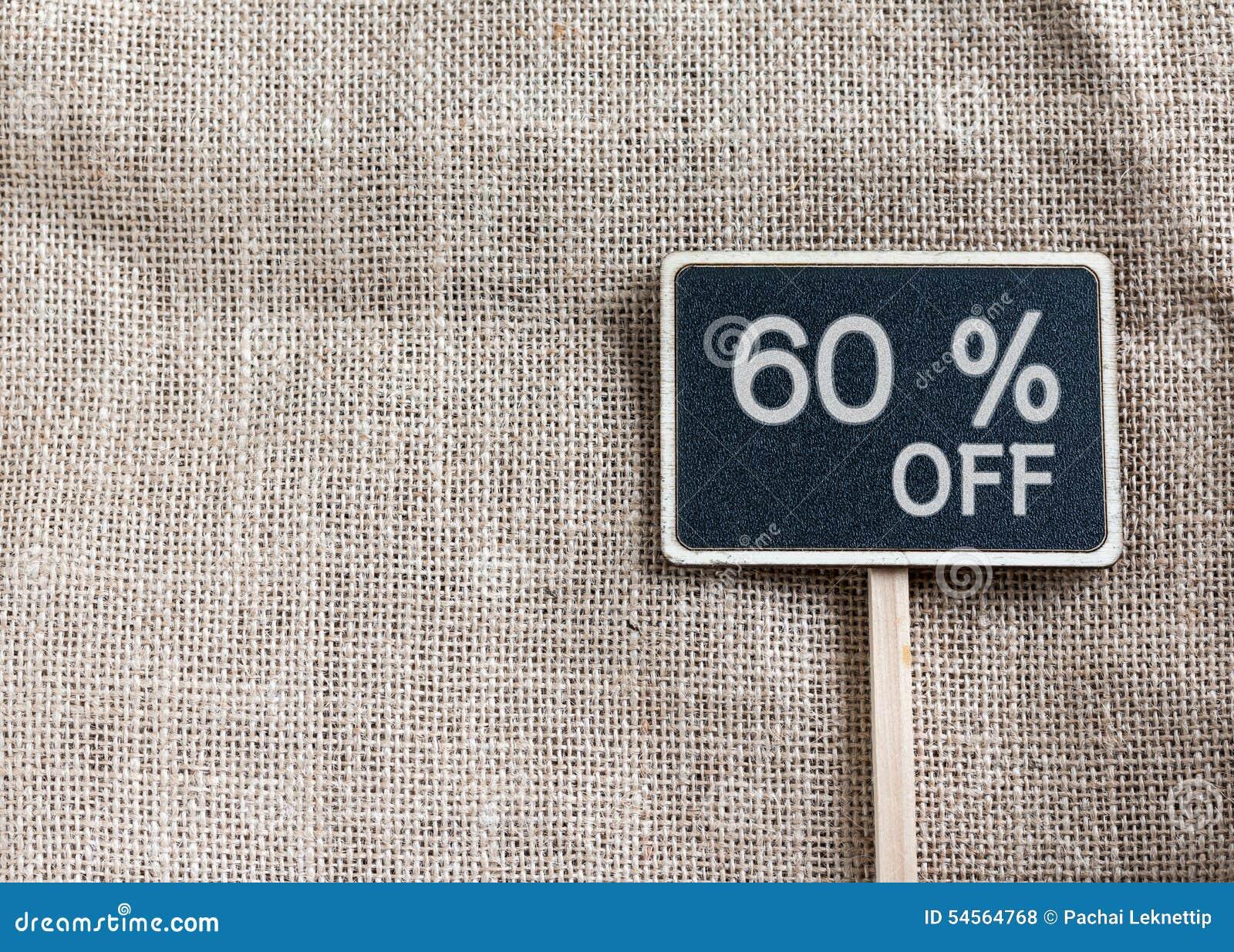 Verkoop 60 percenten van het trekken op bord