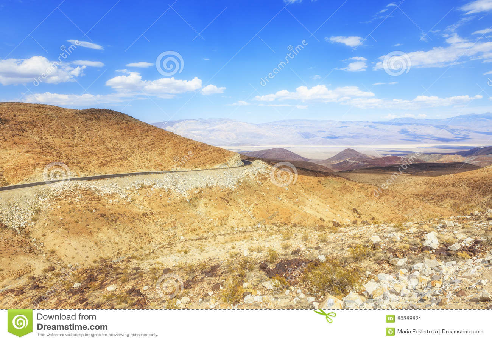 Verlassen Sie Ansicht der alten Spanisch-Hinterlandstraße, Nevada, USA