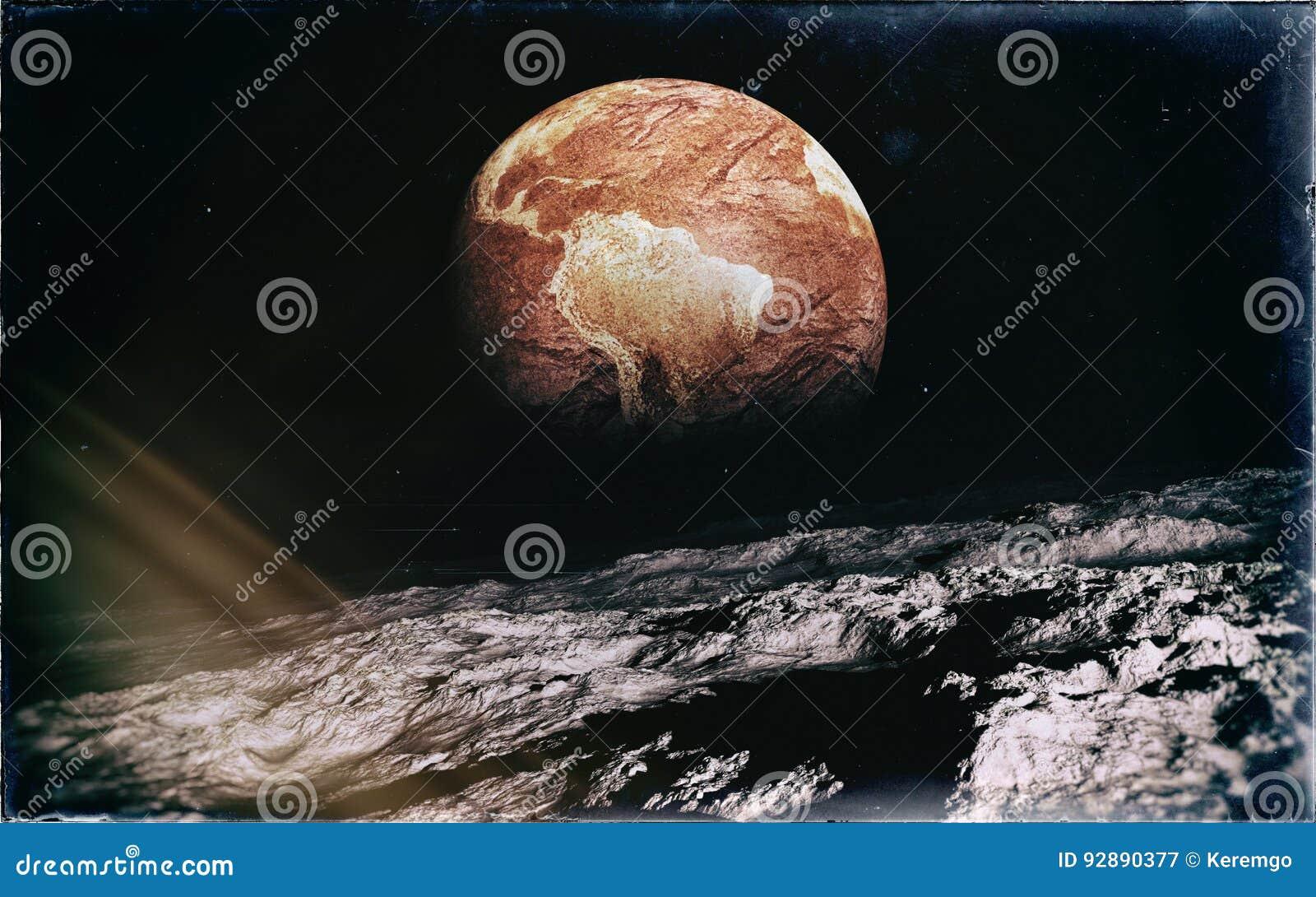 Verlassene Erde vom Mond