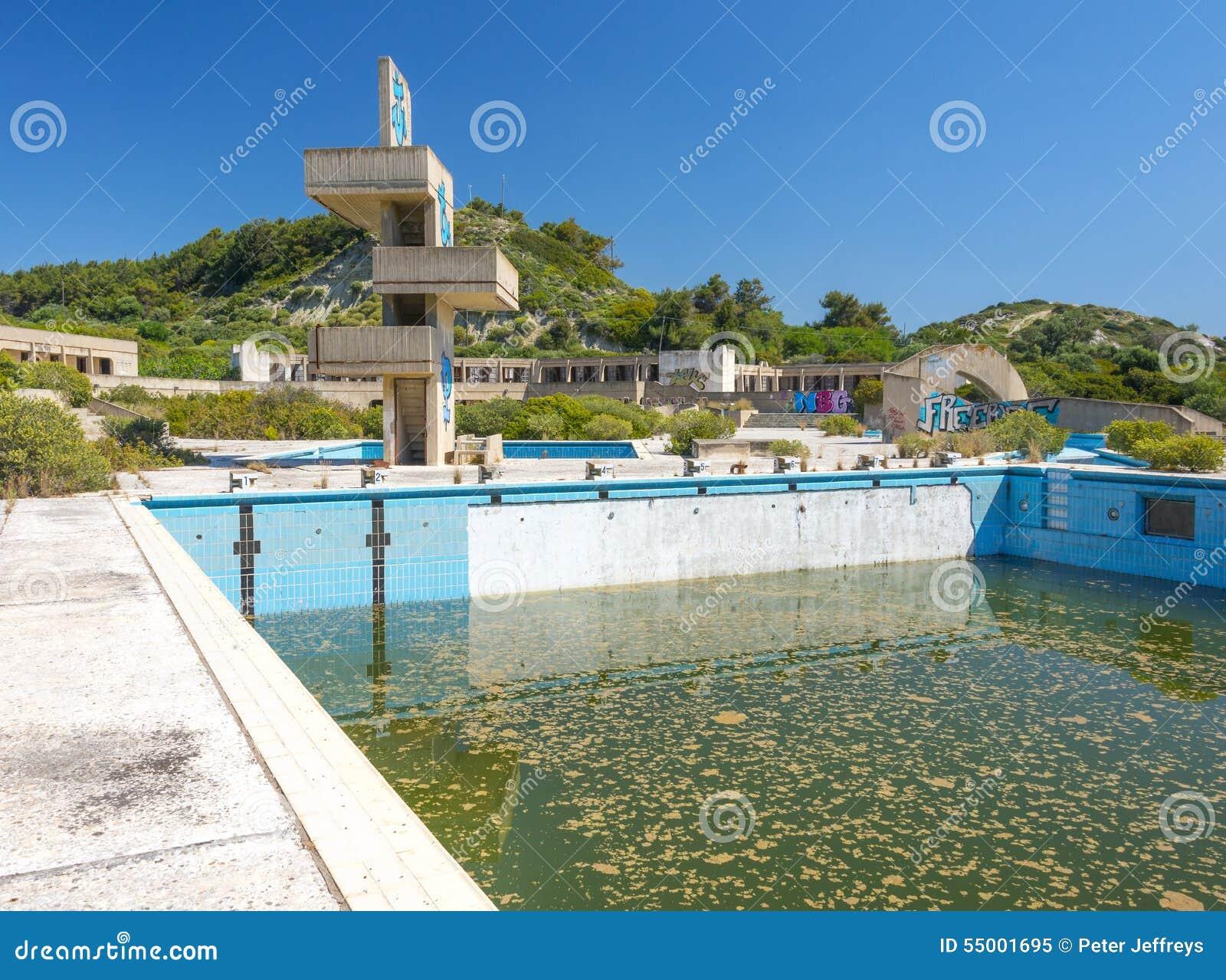 Verlassenes lido auf Rhodos, Griechenland