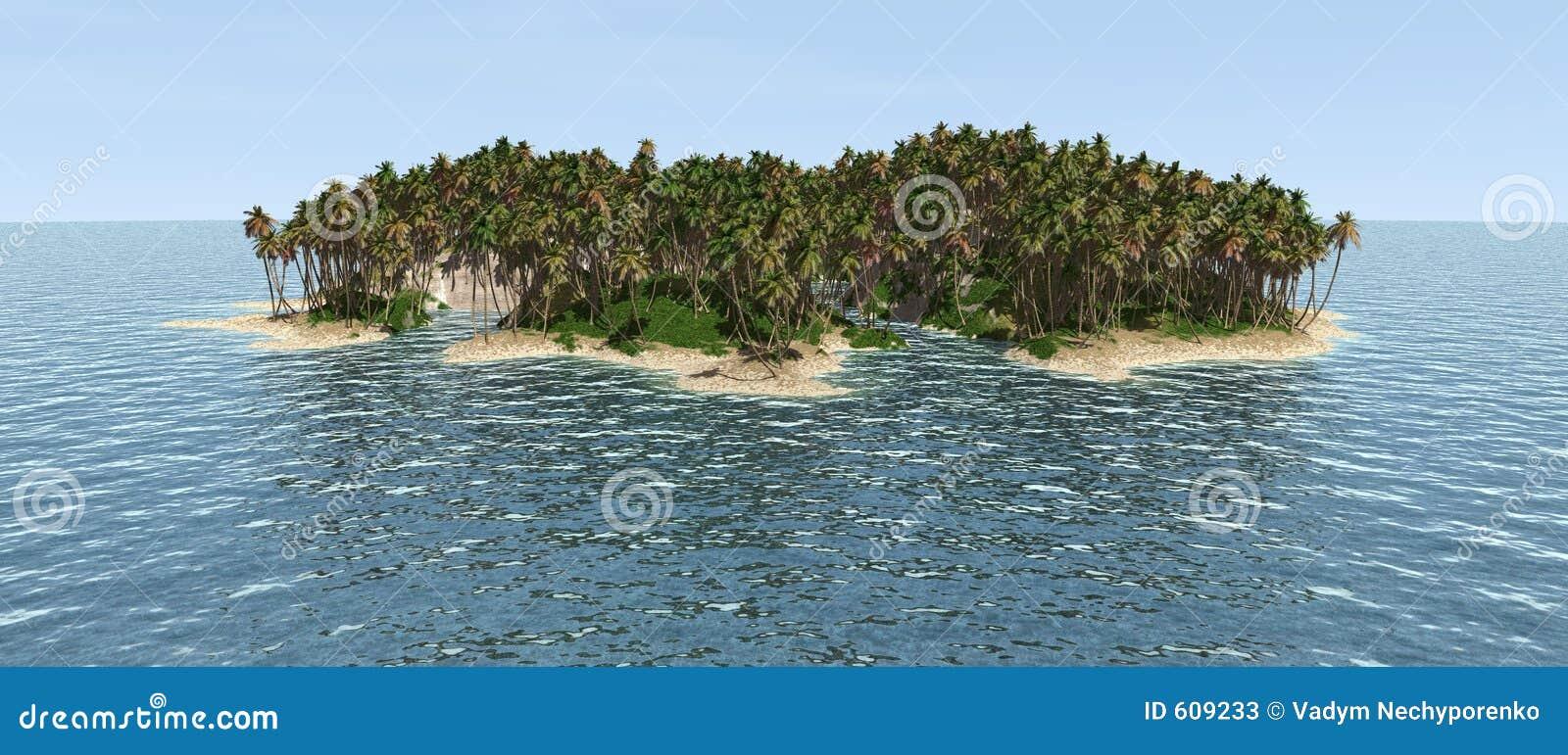Verlaten eiland