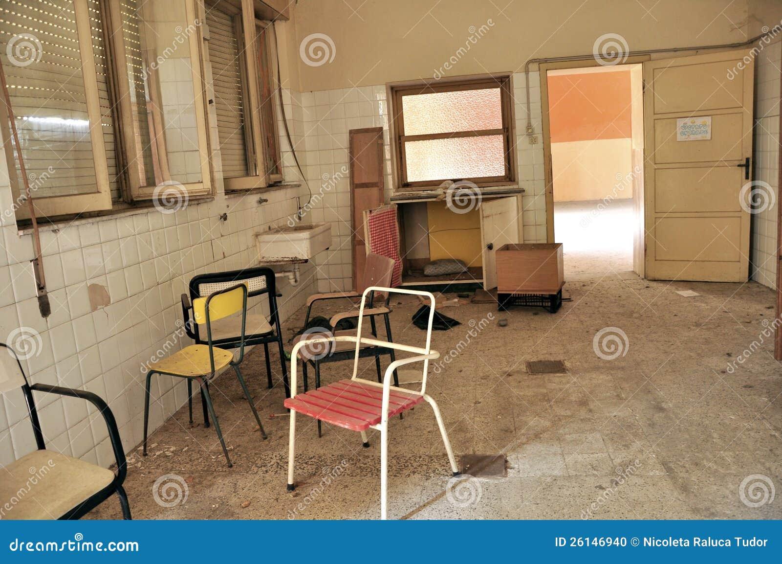 Verlaten het ziekenhuisruimte in Italië
