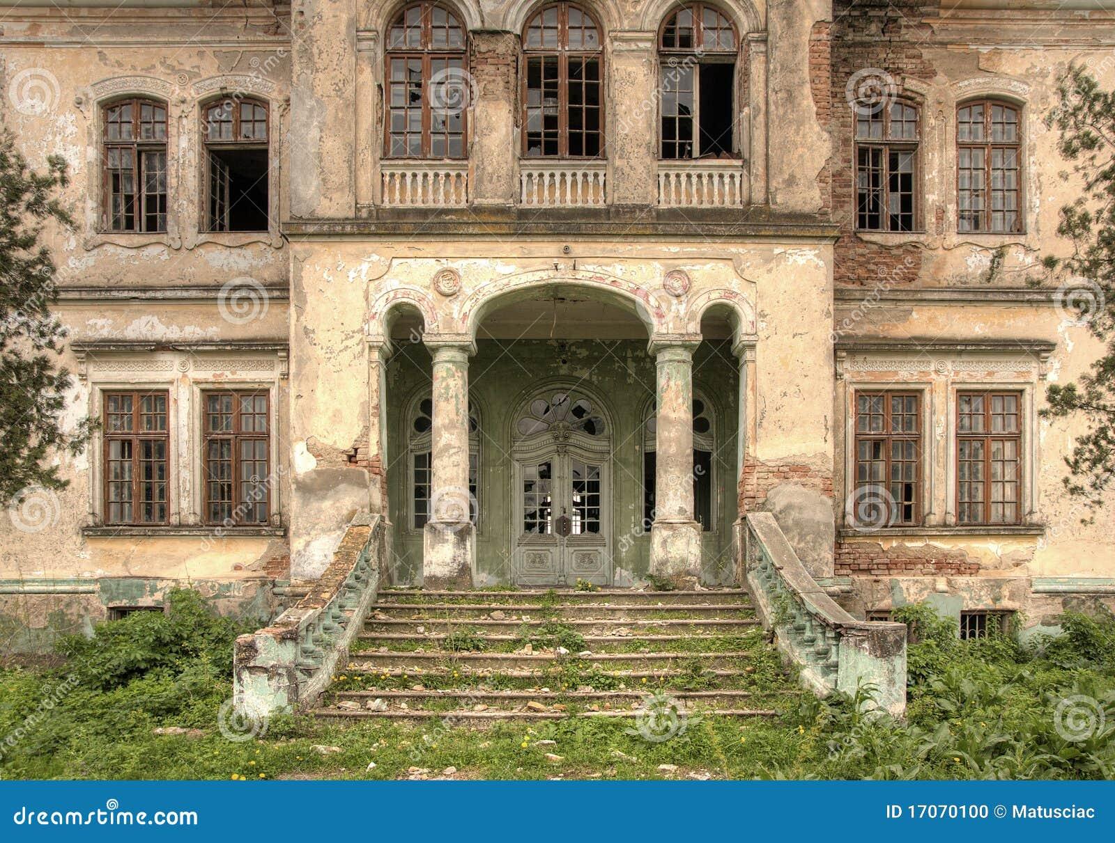 Verlaten oud huis vooraanzicht hdr stock foto afbeelding 17070100 - Oud huis ...