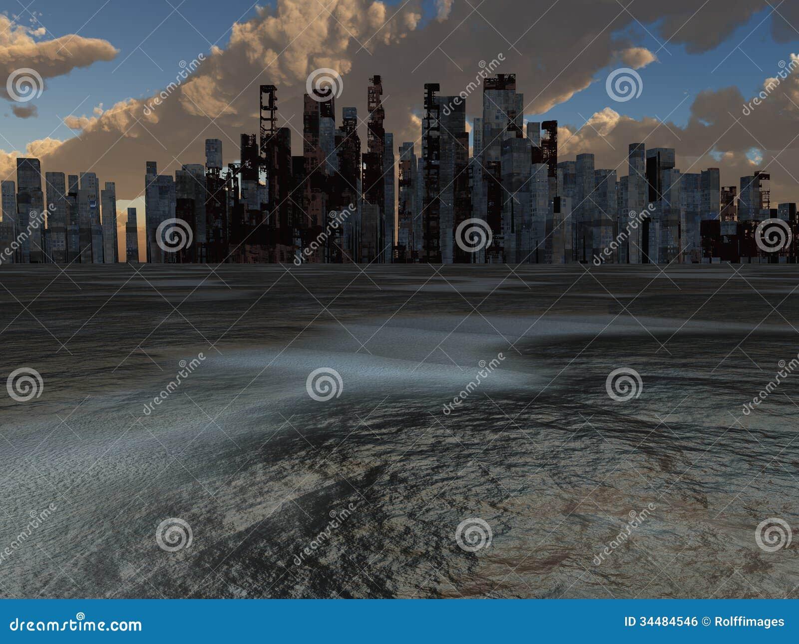 Verlaten Stad