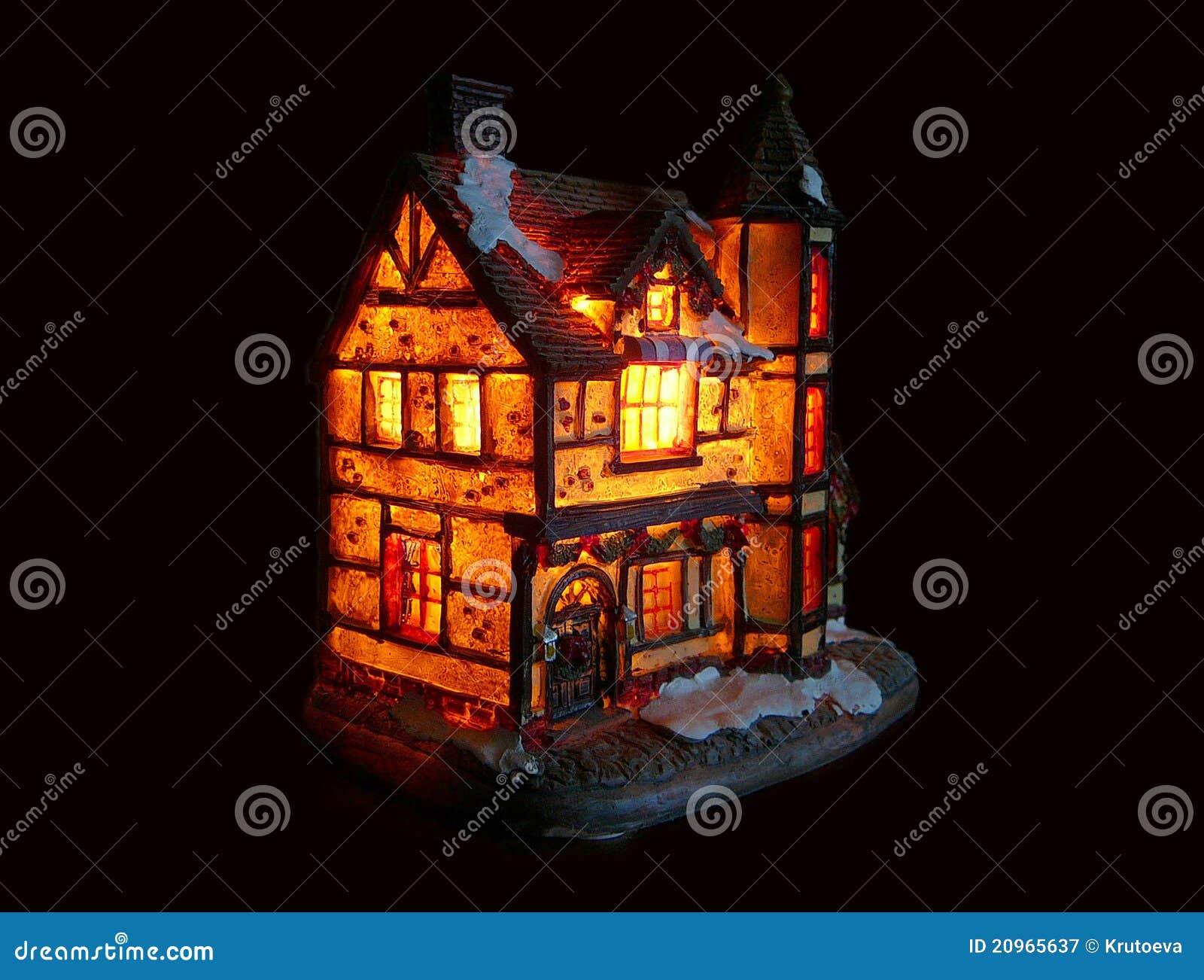Verlicht huis royalty vrije stock fotografie afbeelding 20965637 - Verlicht camif ...
