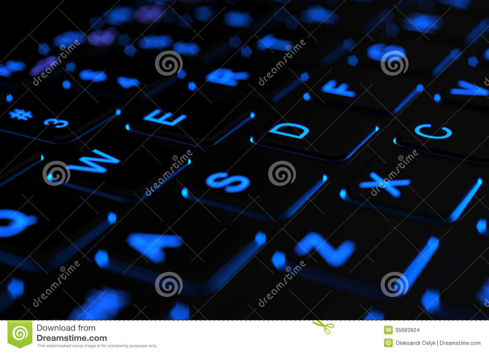 Toetsenbord Met Licht : Verlicht laptop toetsenbord stock illustratie illustratie