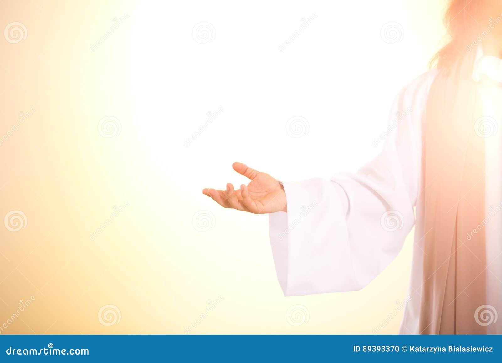 Verlicht silhouet van Jesus