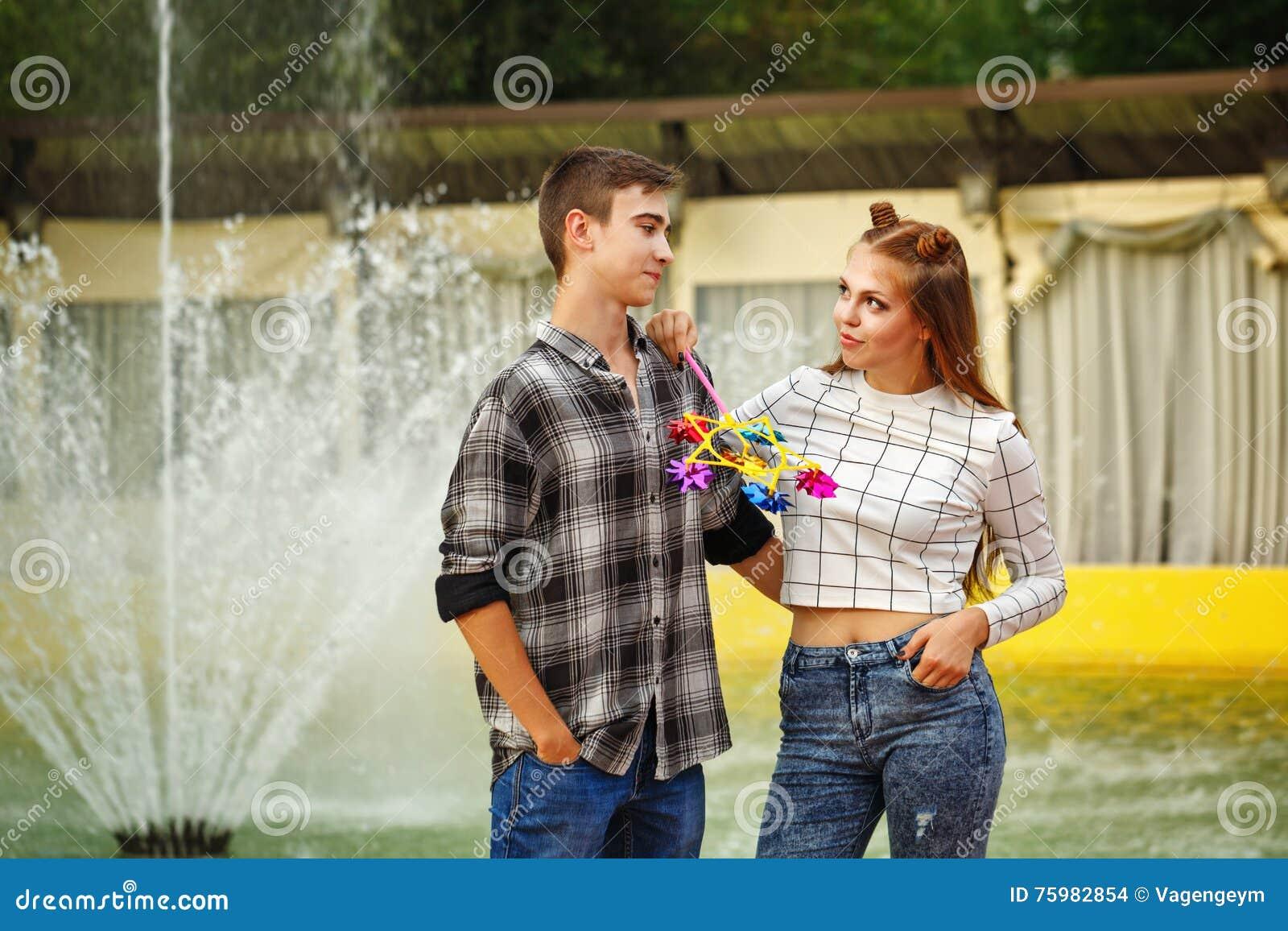 Verliebte jugendliche
