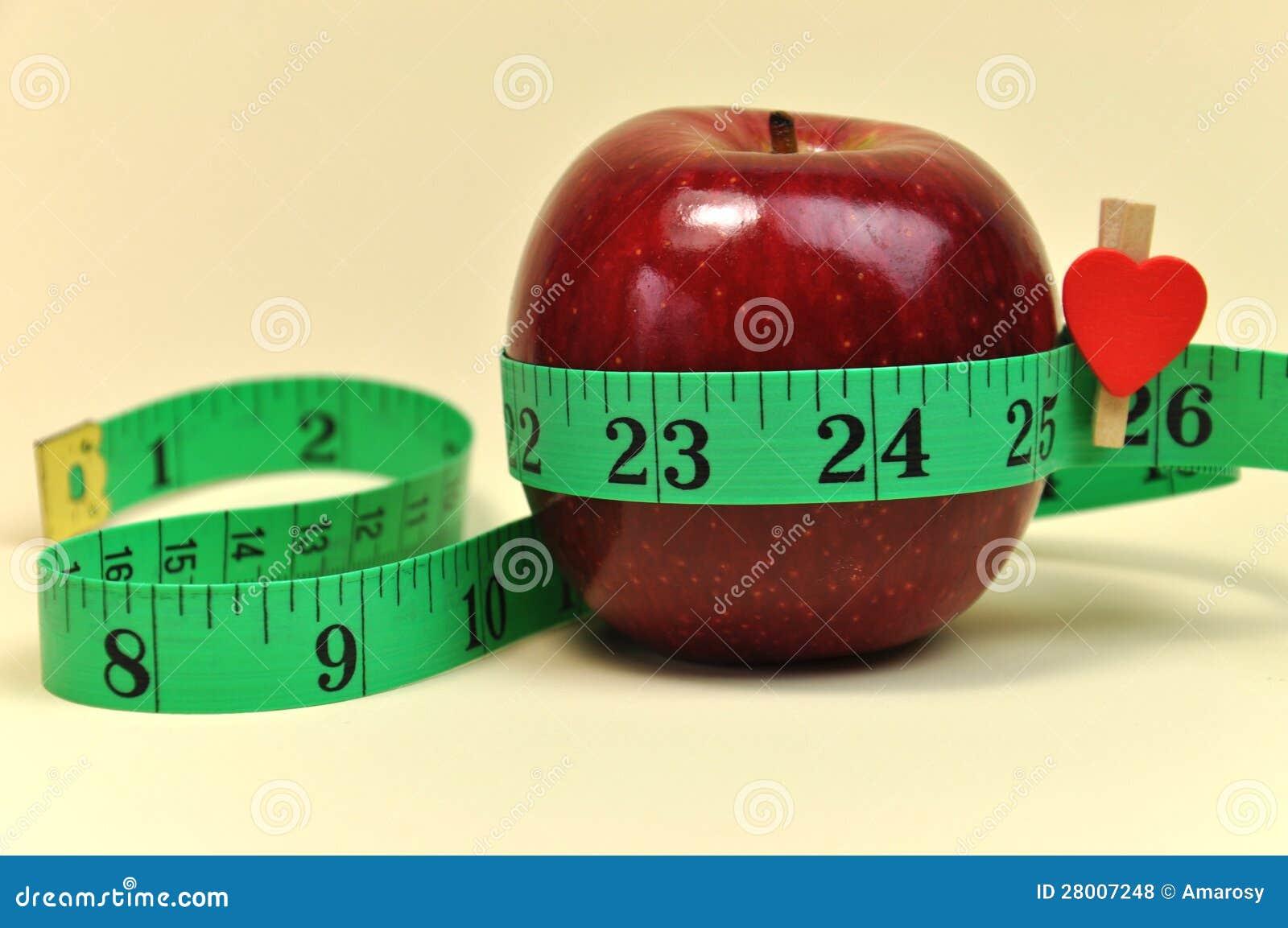 Verlieren Sie Gewichts-neues Jahr-Auflösungs-Ziel-Nahaufnahme