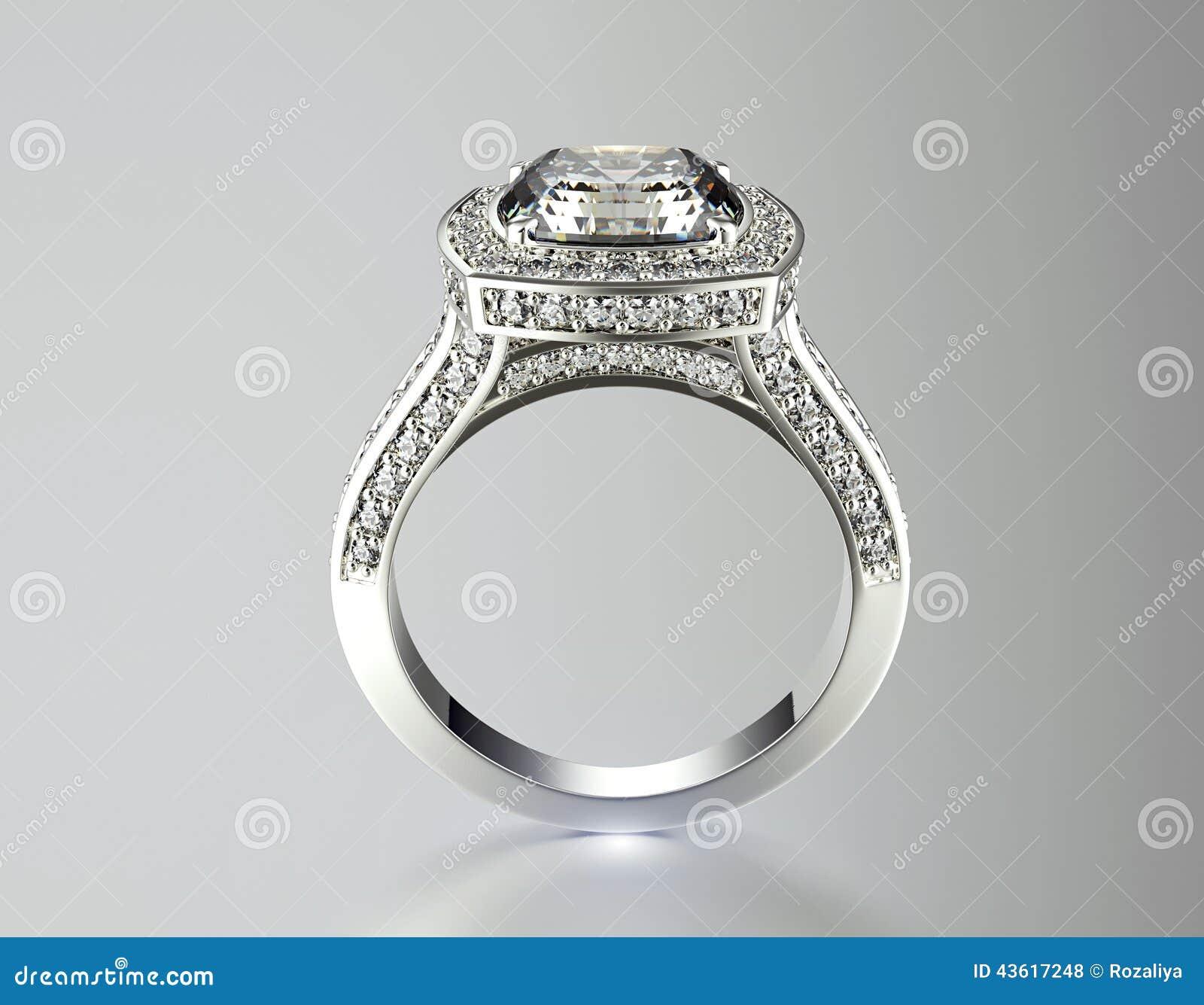 Verlobungsring Mit Diamanten Gold Und Silber Schwarzer Gewebe