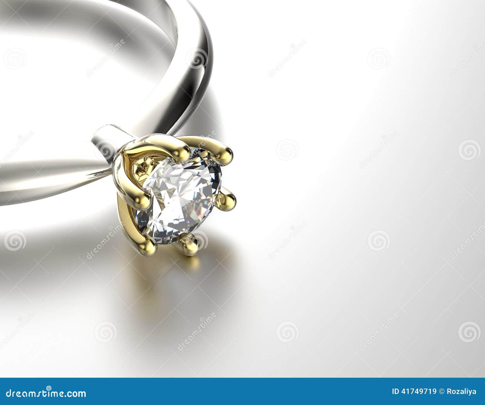 Verlobungsring Mit Diamanten Oder Moissanite Gold Und Silber