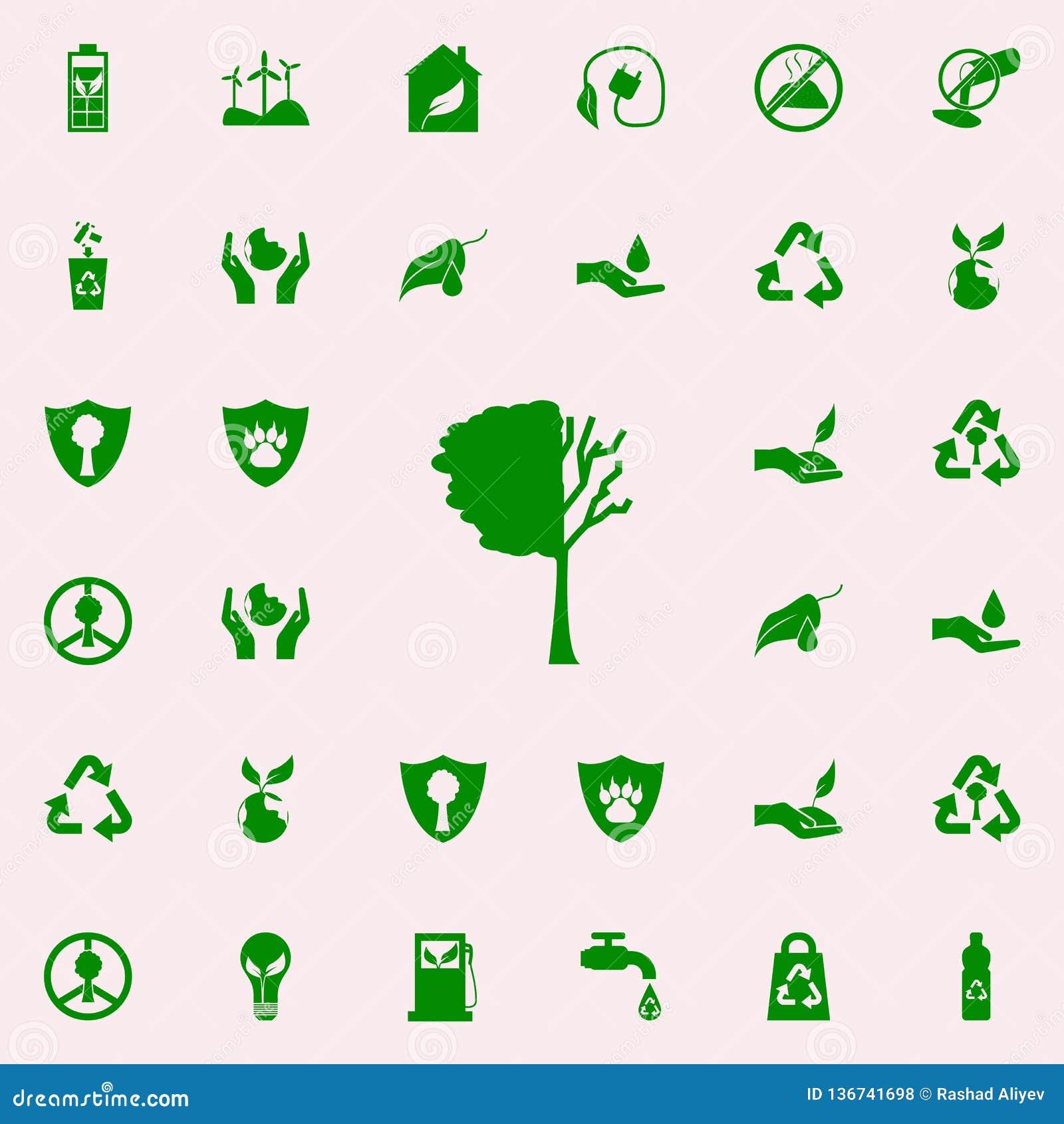 Verloren de boom verlaat groen pictogram voor Web wordt geplaatst dat en mobiel de pictogrammenalgemeen begrip van Greenpeace
