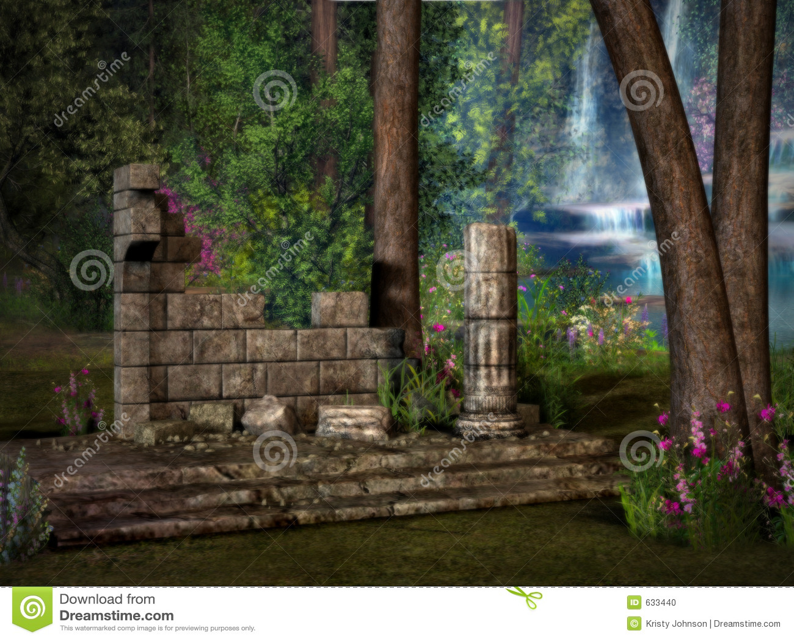Verlorene Tempel-Ruinen