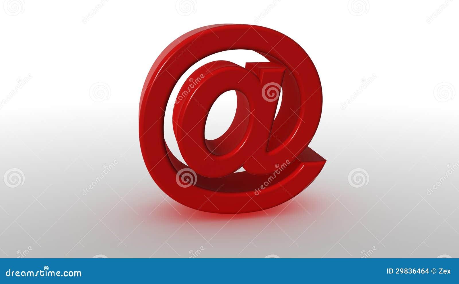 Vermelho 3D no símbolo