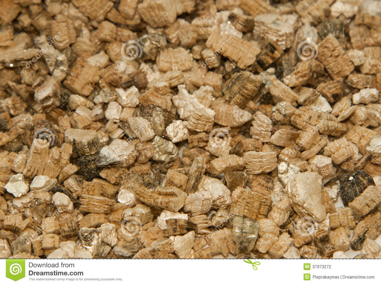 Vermiculite Used In Potting Plants Stock Photo - Image of granules ...