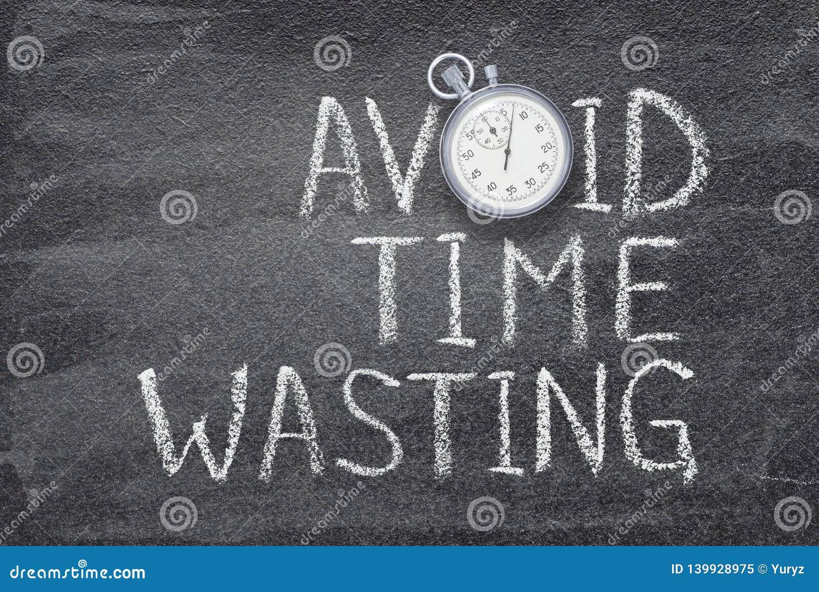 Vermijd tijd verspillend horloge