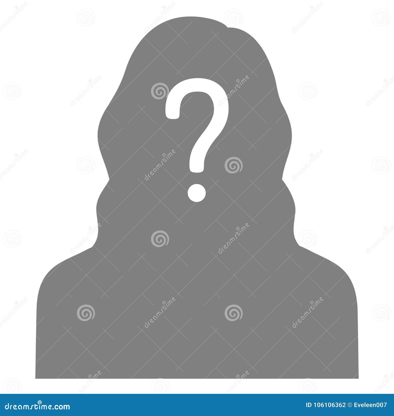 Vermisste Person, grafischer Steckbrief, verlorenes anonymes