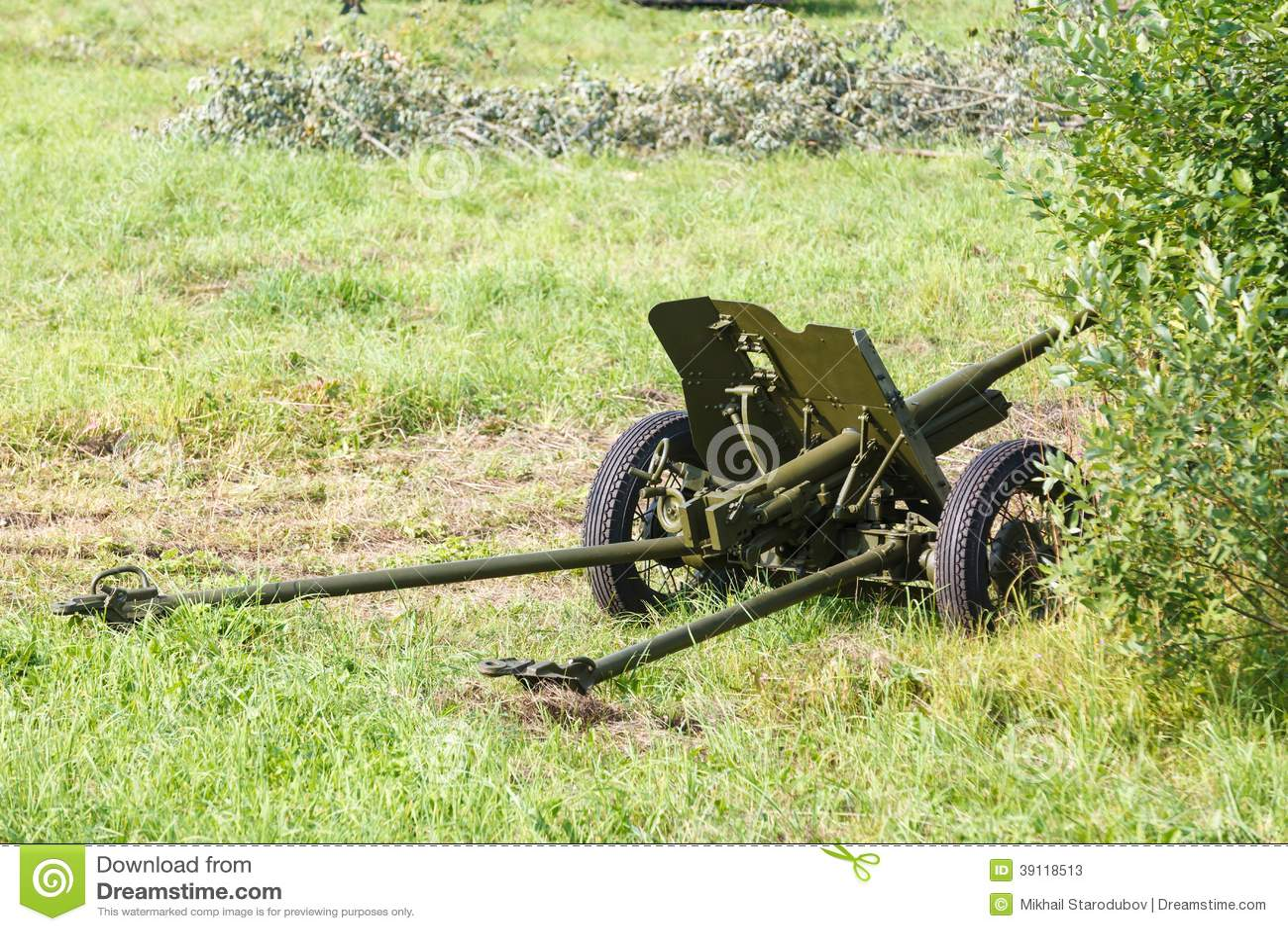 Vermomd Sovjetgebiedskanon 45mm
