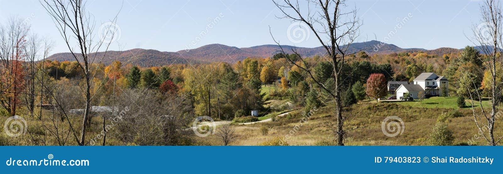 Vermont Autumn Foliage Panorama
