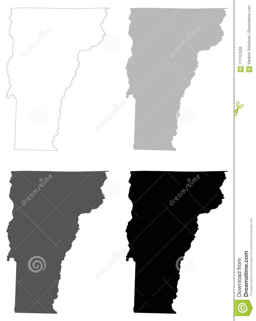 Vermont Map - State In The New England Region Of The ...