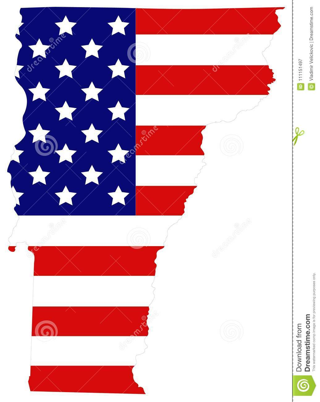 Map Of England Over Usa.Vermont Map With Usa Flag State In The New England Region Of The