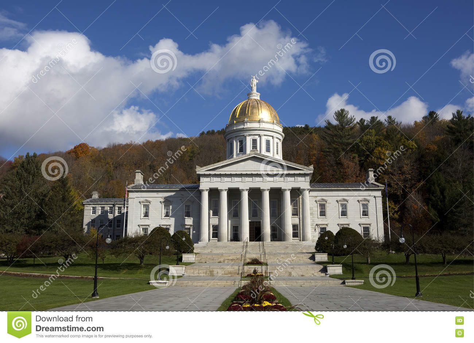 Vermont stanu domu Kapitałowy budynek