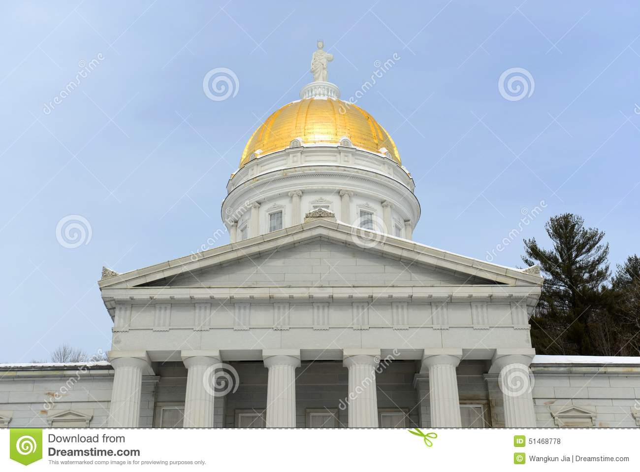 Vermont State House Montpelier Stock Photo Image 51468778