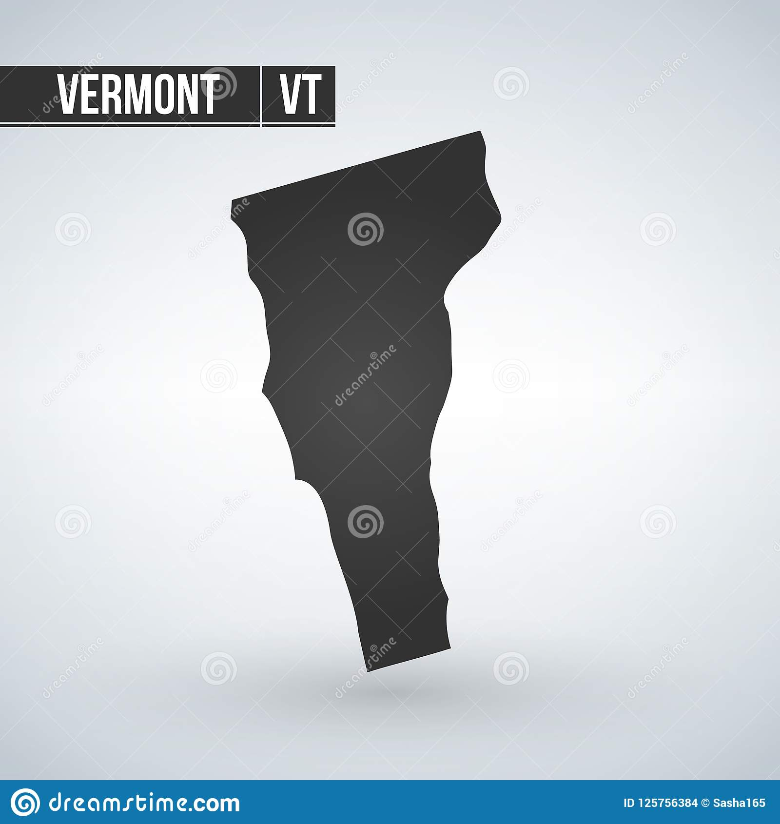 Vermont States Of Us Map Icon Vector Template Stock Illustration