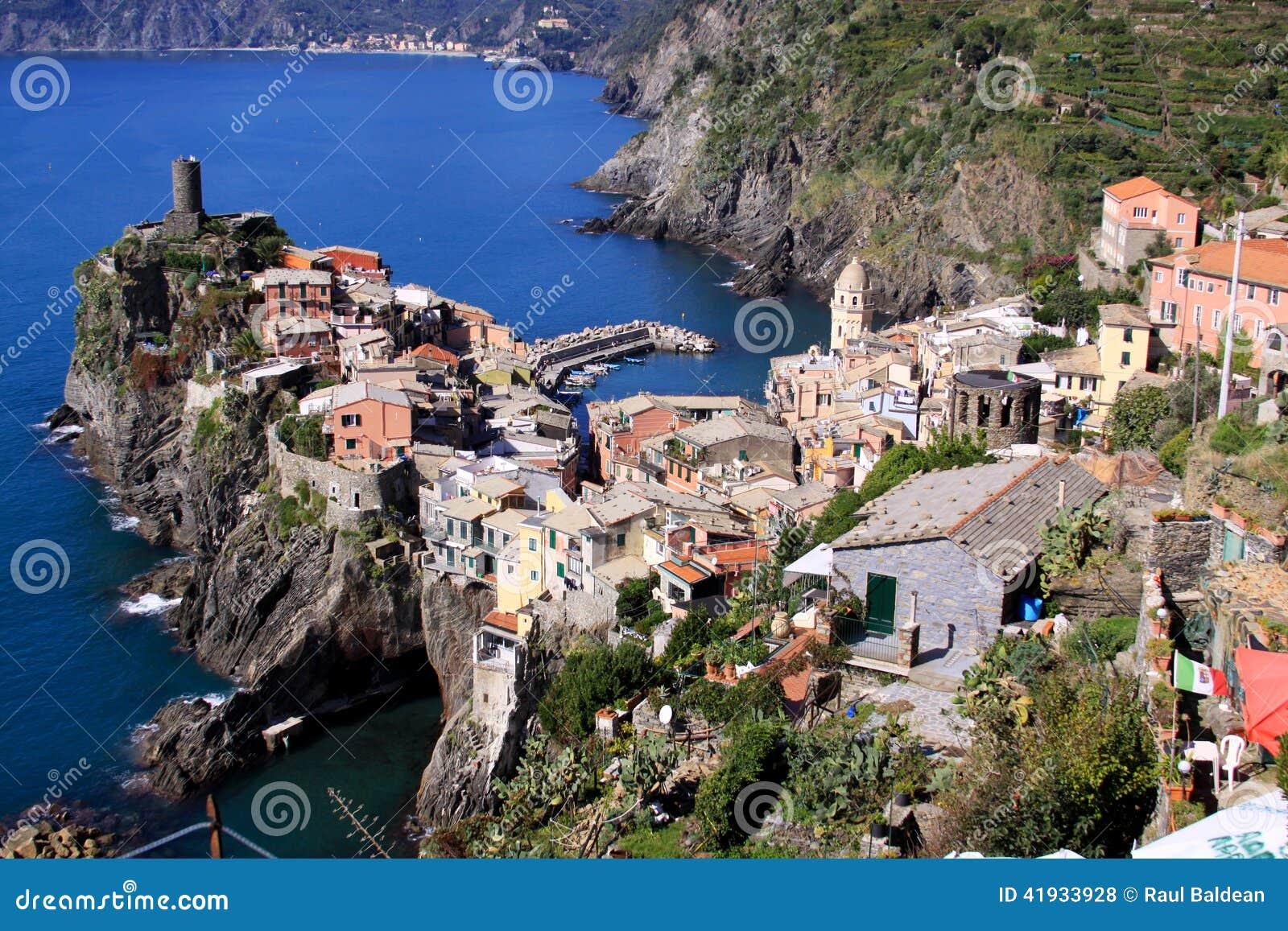 Vernazza, Cinque Terre, Italy - view