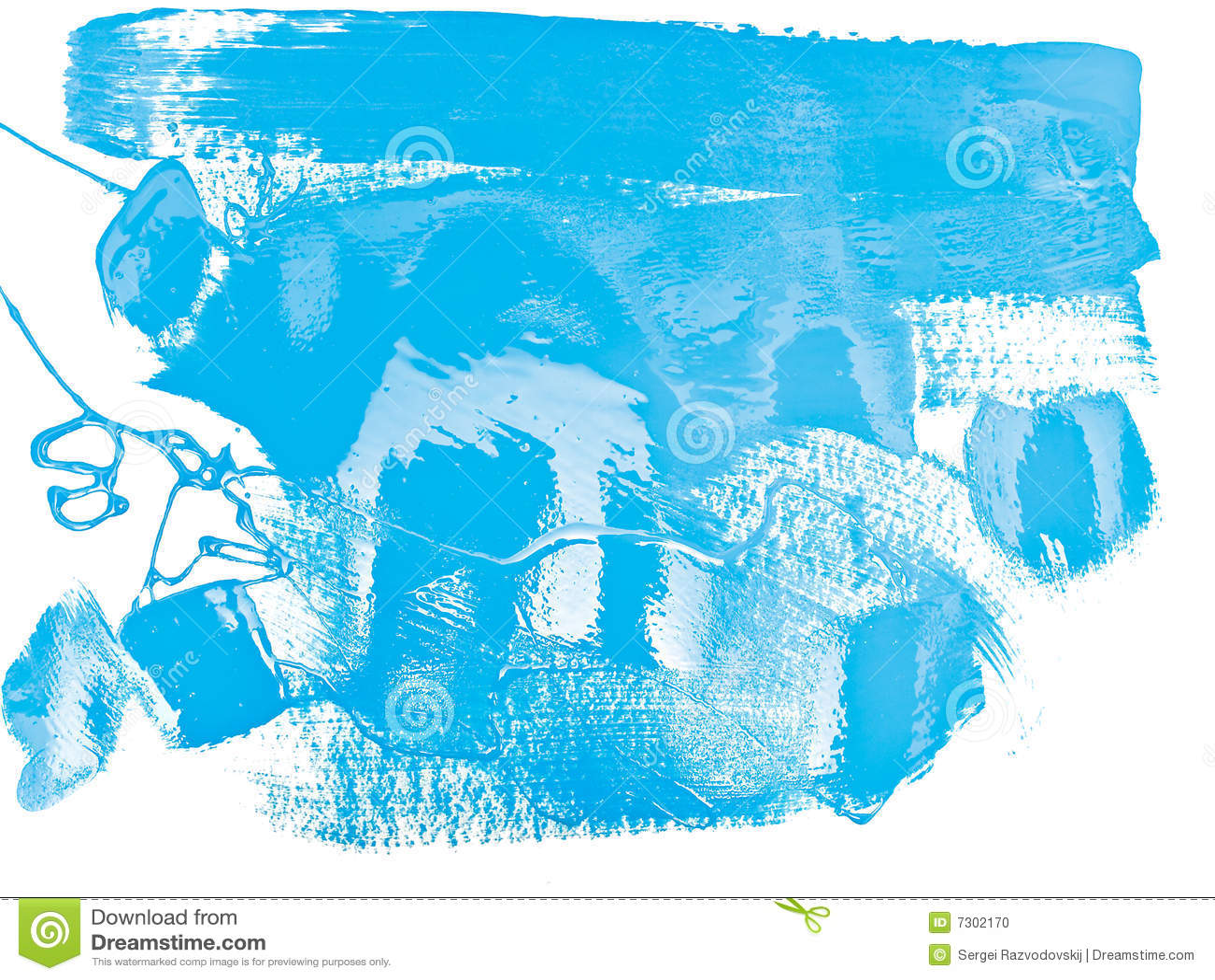 Vernice blu di colore